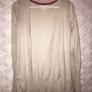 Aeropostale tan cardigan with buttons & pockets